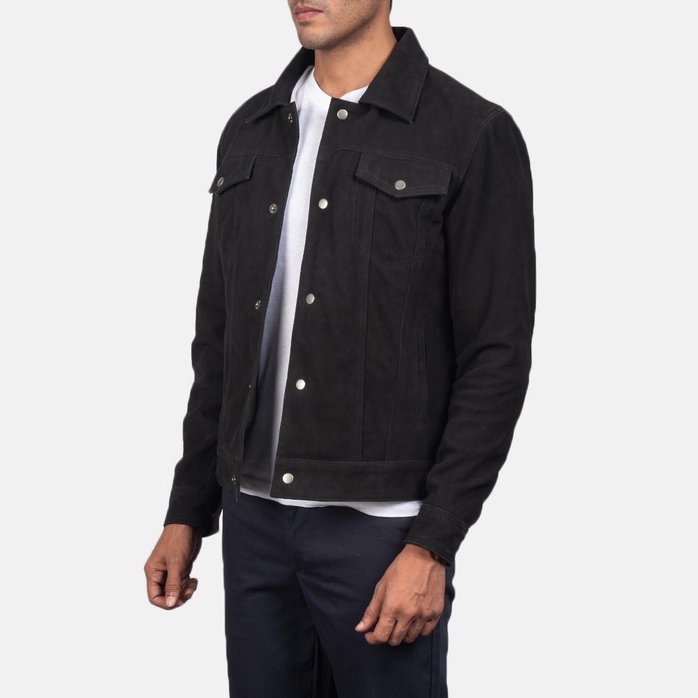 Men's Stallon Black Suede Jacket 3