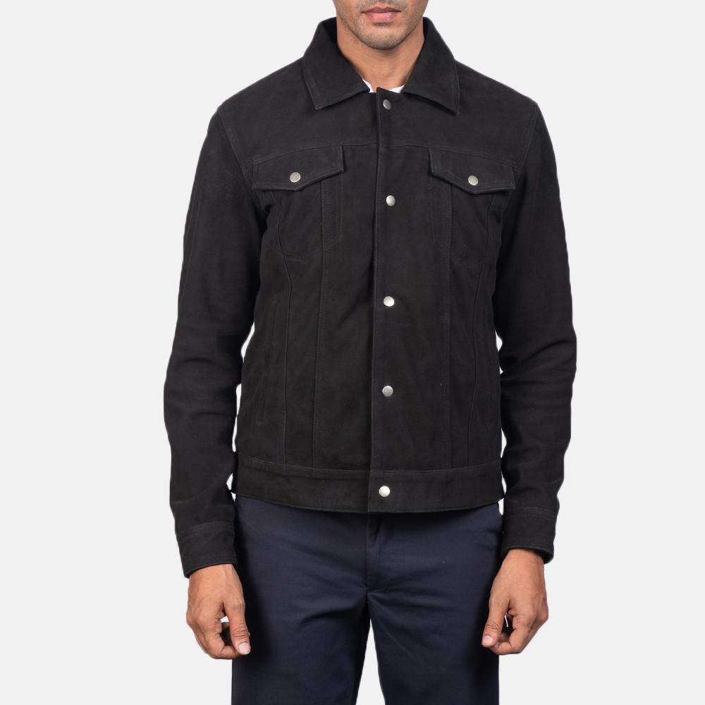 Men's Stallon Black Suede Jacket 4