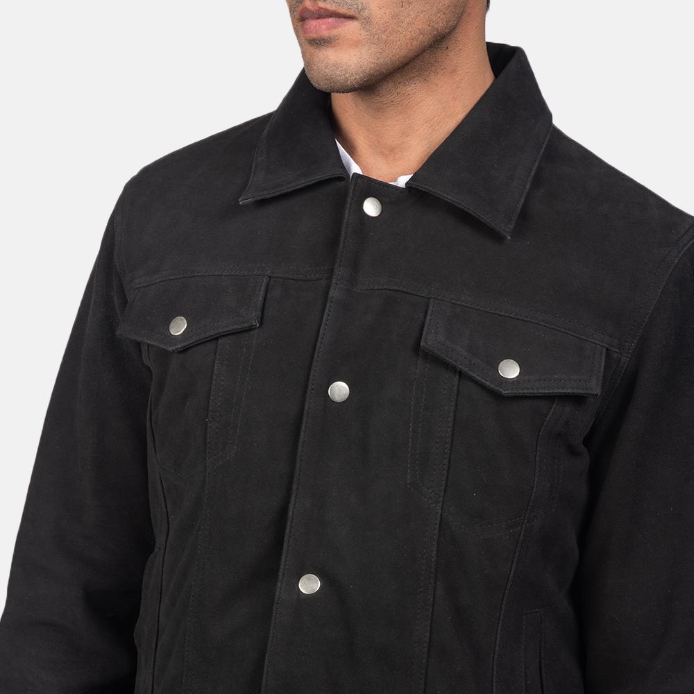 Men's Stallon Black Suede Jacket 6
