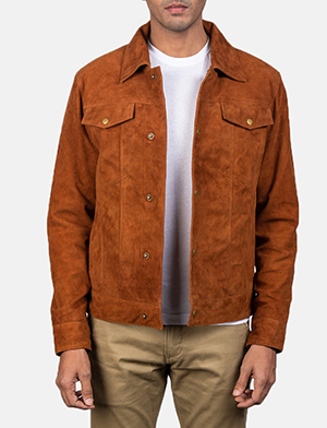 Stallon brown suede jacket for men 2520 1550657045013