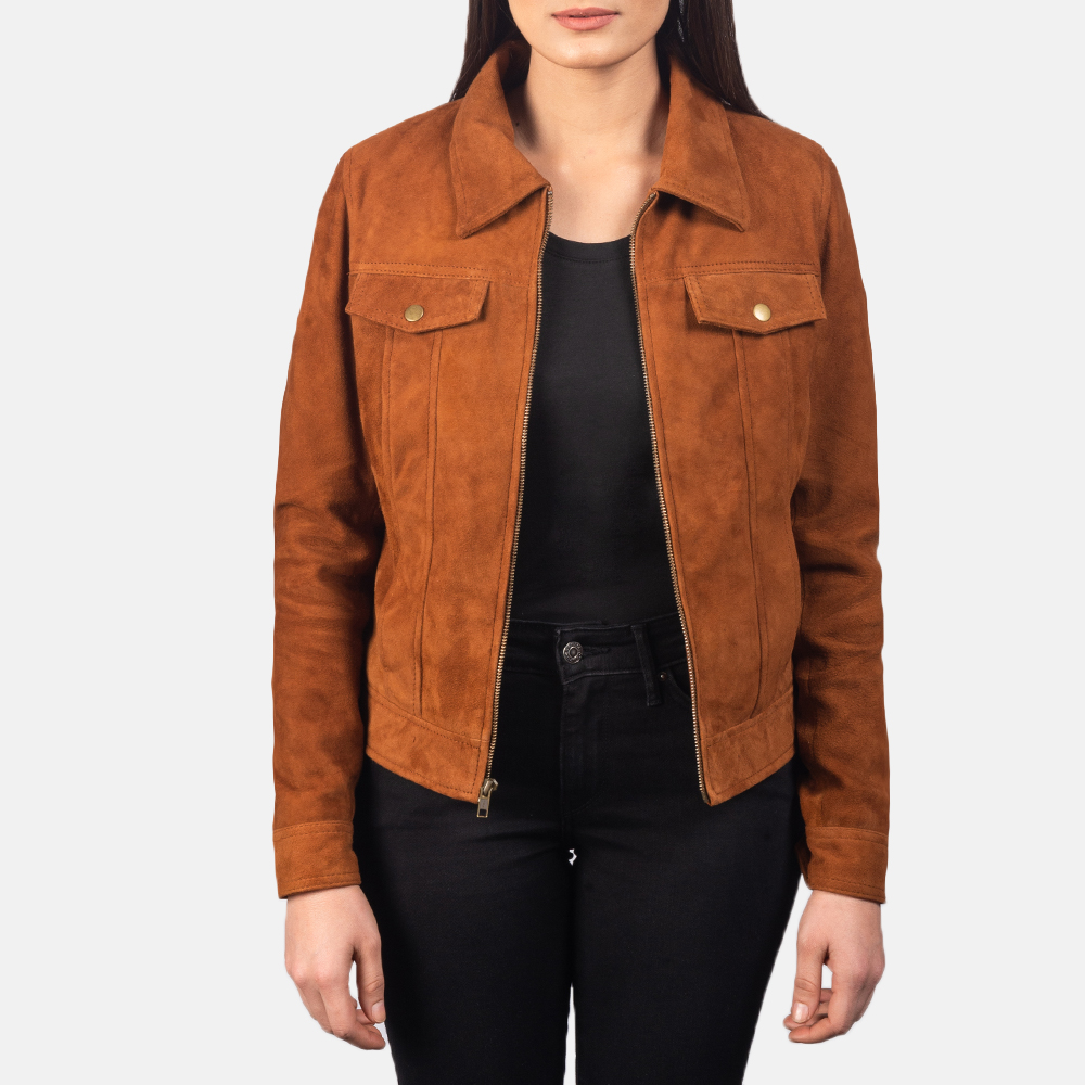 Women's Suzy Brown Suede Jacket 3