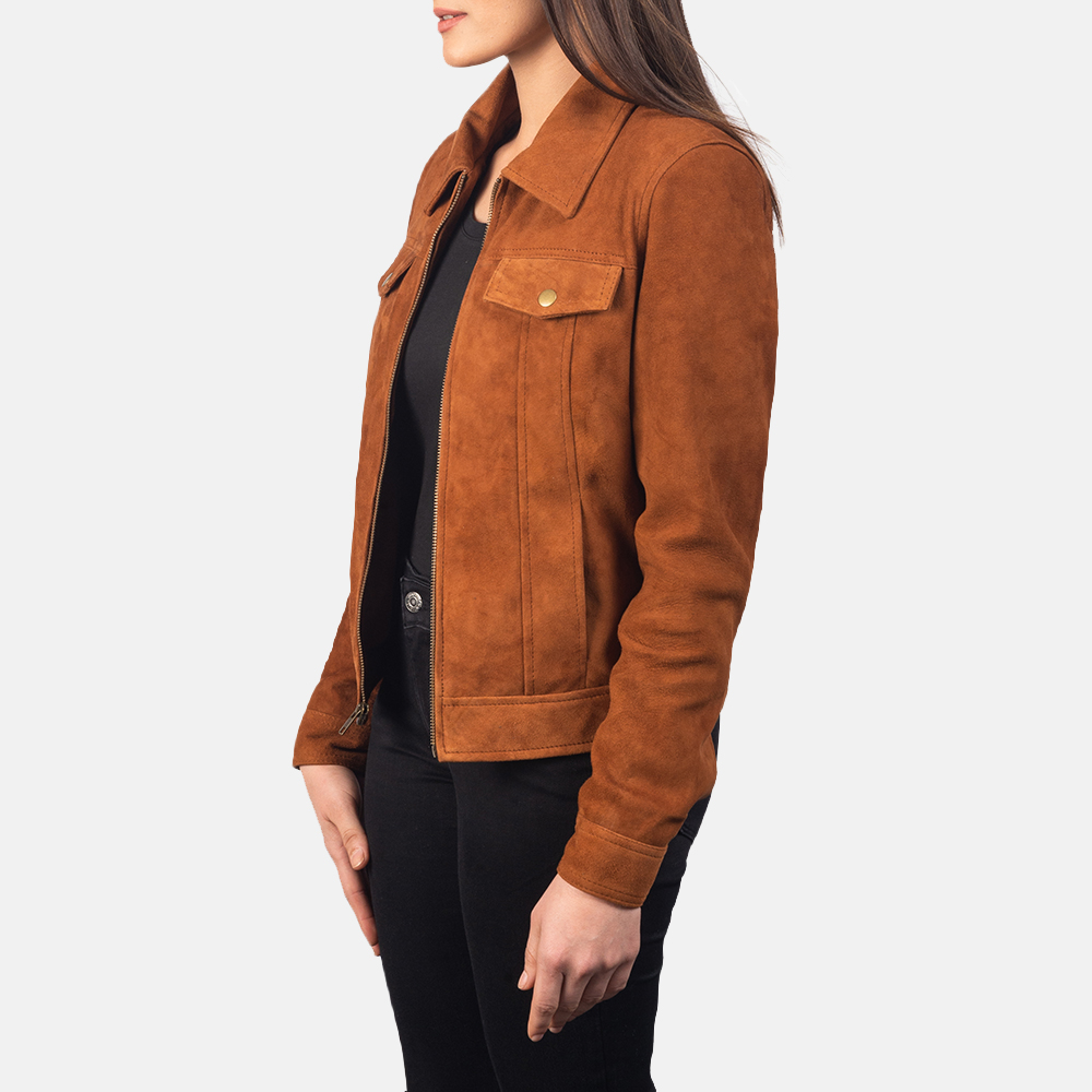 Women's Suzy Brown Suede Jacket 2