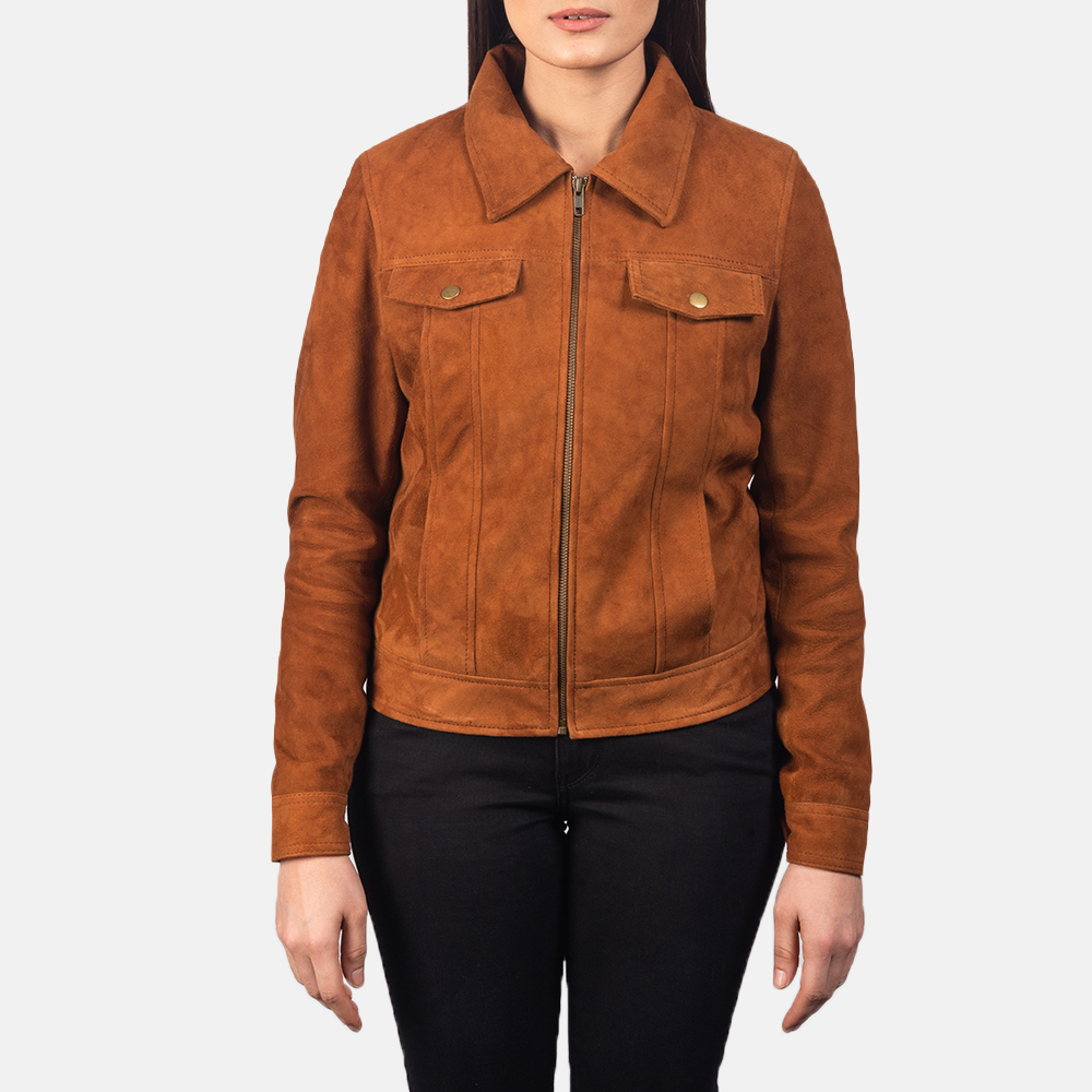 Women's Suzy Brown Suede Jacket 4