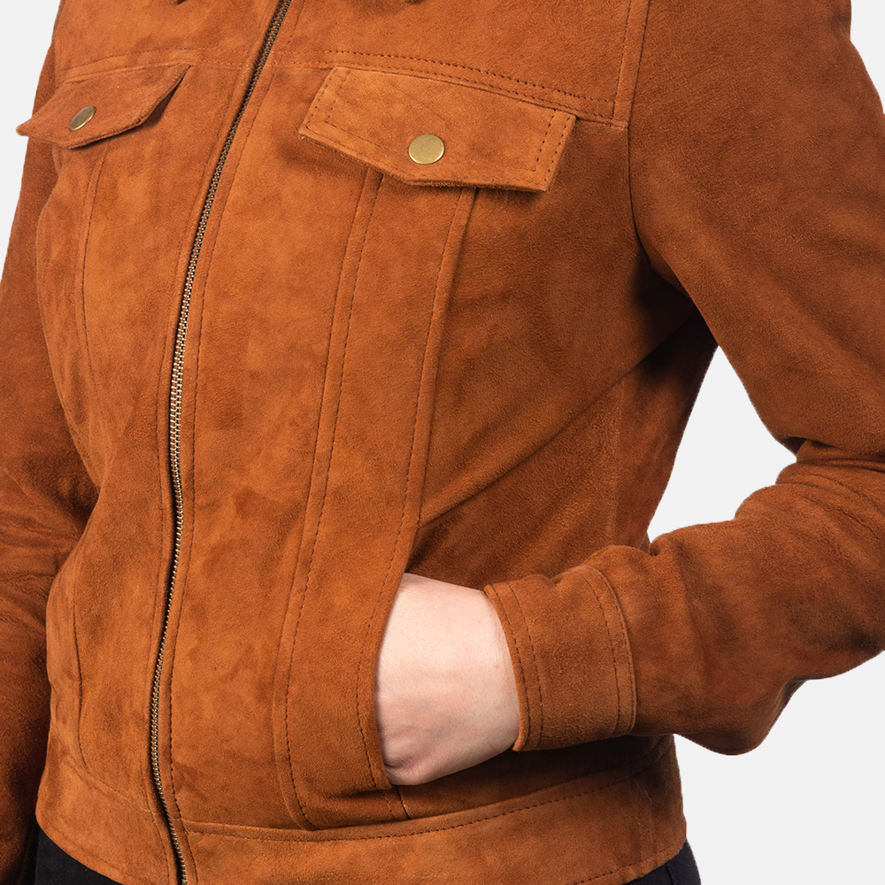 Women's Suzy Brown Suede Jacket 6