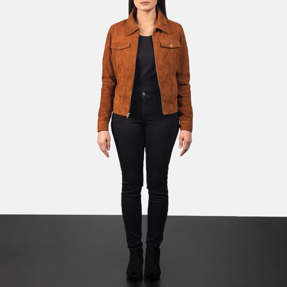 Women's Suzy Brown Suede Jacket 1