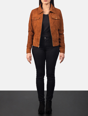 Women's Suzy Brown Suede Jacket