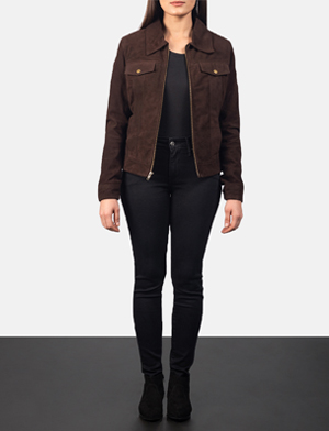 Women's Suzy Mocha Brown Suede Jacket