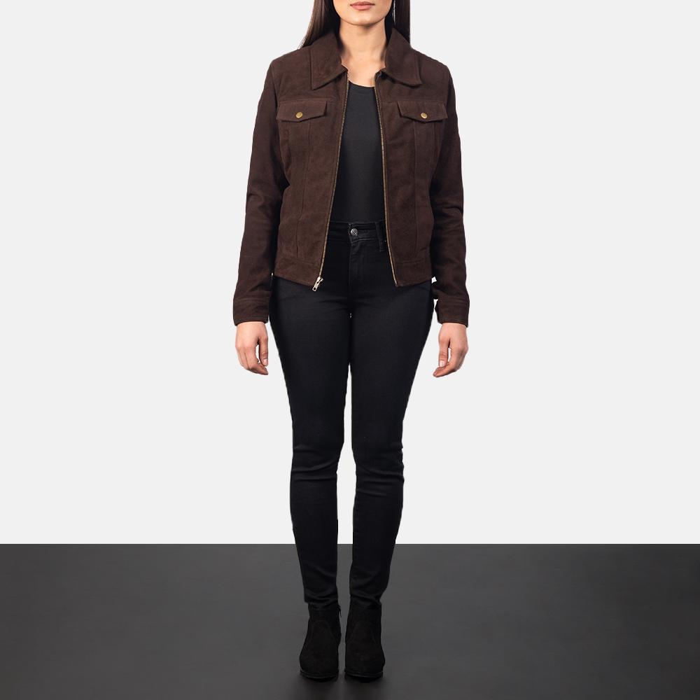 Women's Suzy Mocha Suede Jacket 1