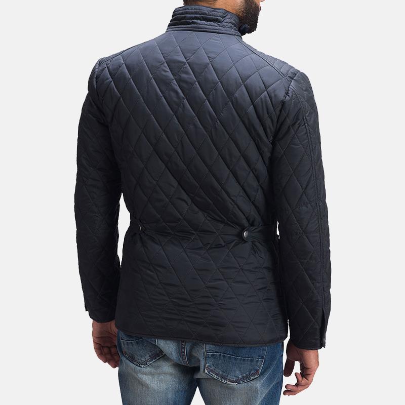 Men's Barry Quilted Black Windbreaker Jacket 7