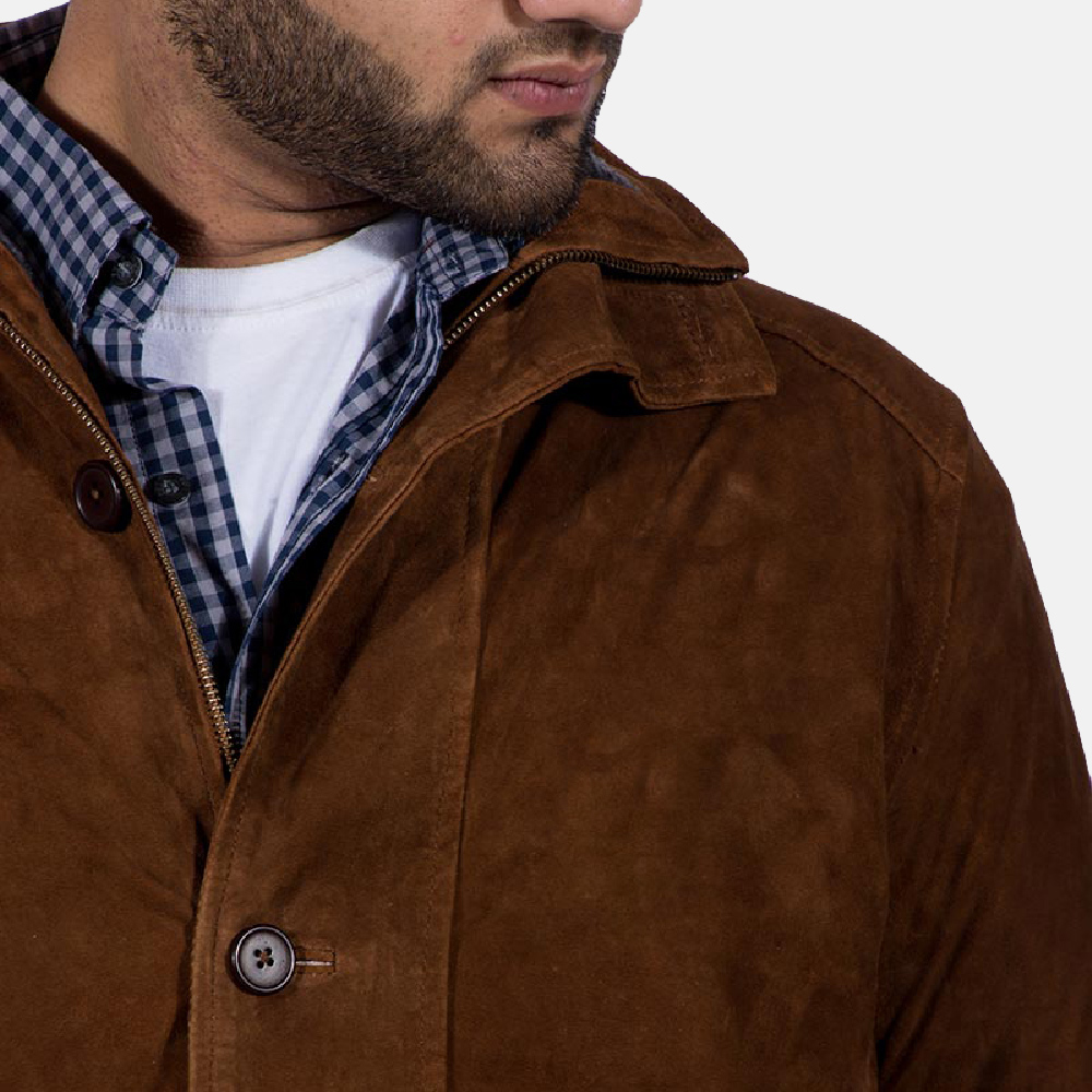Mens Sheriff Brown Suede Jacket 5