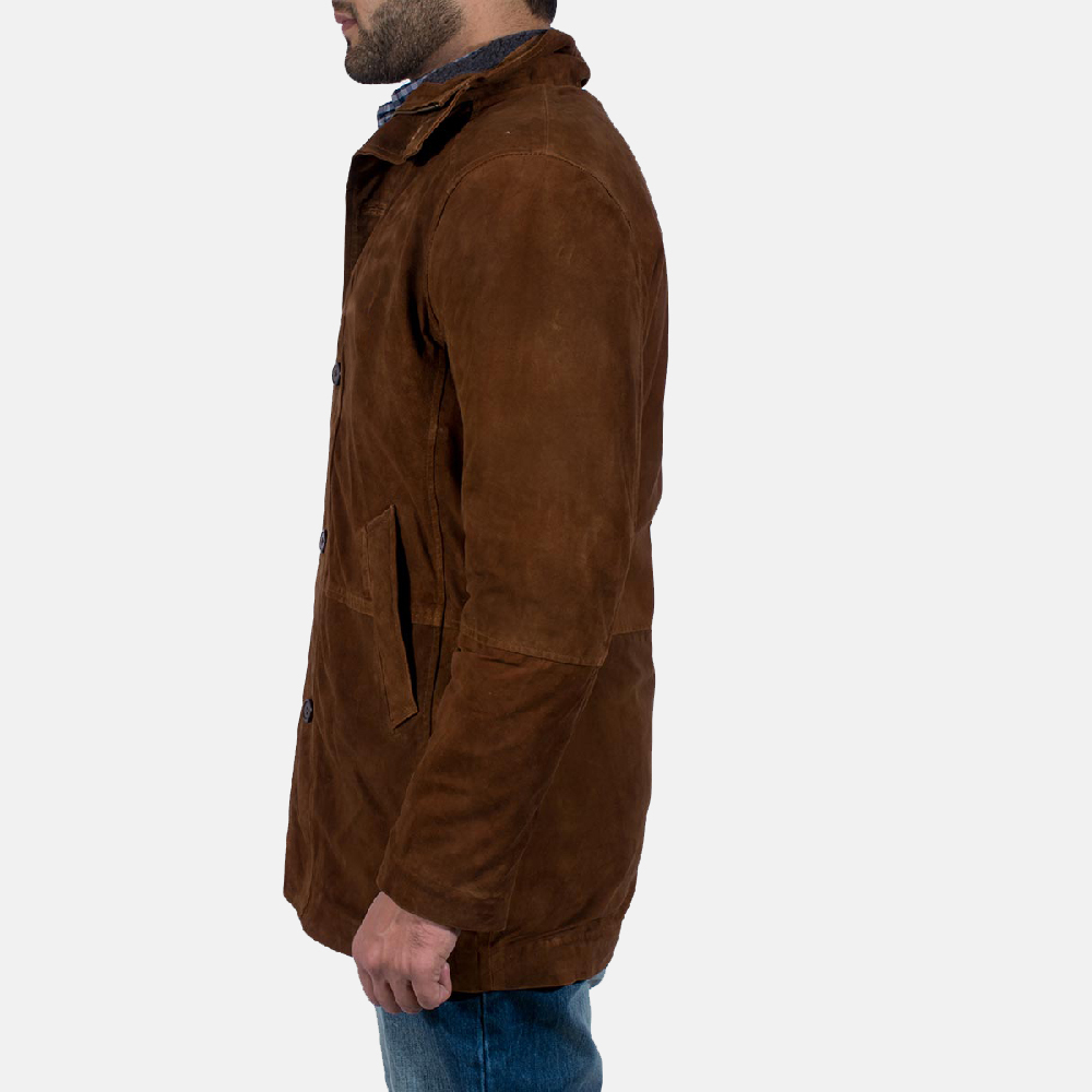 Mens Sheriff Brown Suede Jacket 3