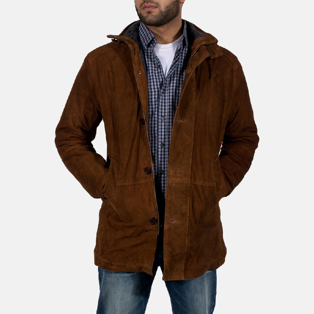 Mens Sheriff Brown Suede Jacket 1