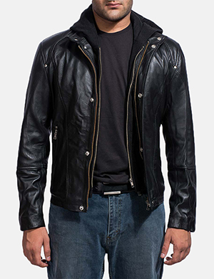 Highschool Black Leather Jacket