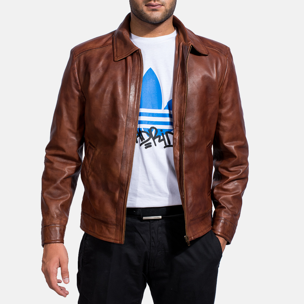 Mens Inferno Brown Leather Jacket 4 5a448be6a