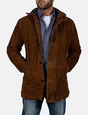 Mens Sheriff Brown Suede Jacket