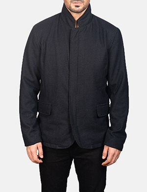 Men's Thomas Black Wool Jacket