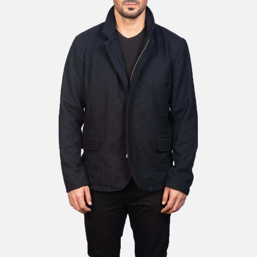 Men's Thomas Black Wool Jacket 3