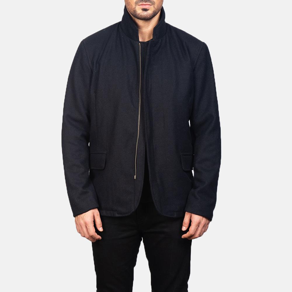 Men's Thomas Black Wool Jacket 4