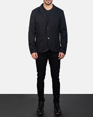 Men's Black Blazer 1