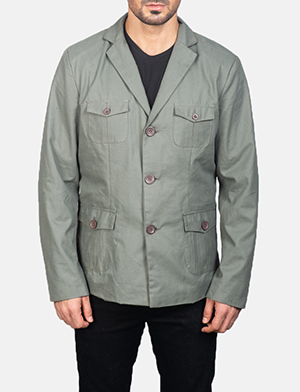 Men's Grey Safari Jacket