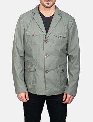 Men's Grey Safari Jacket