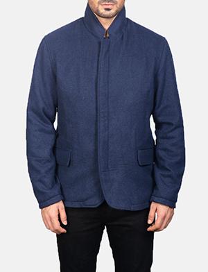 Men's Thomas Blue Wool Jacket