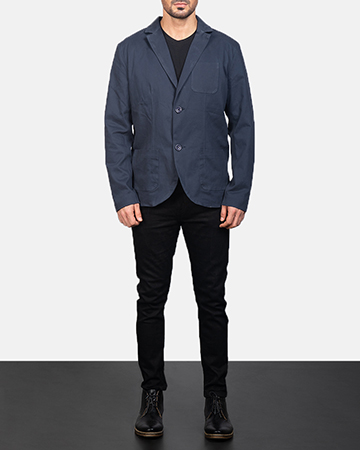 Men's Navy Blue Blazer 1