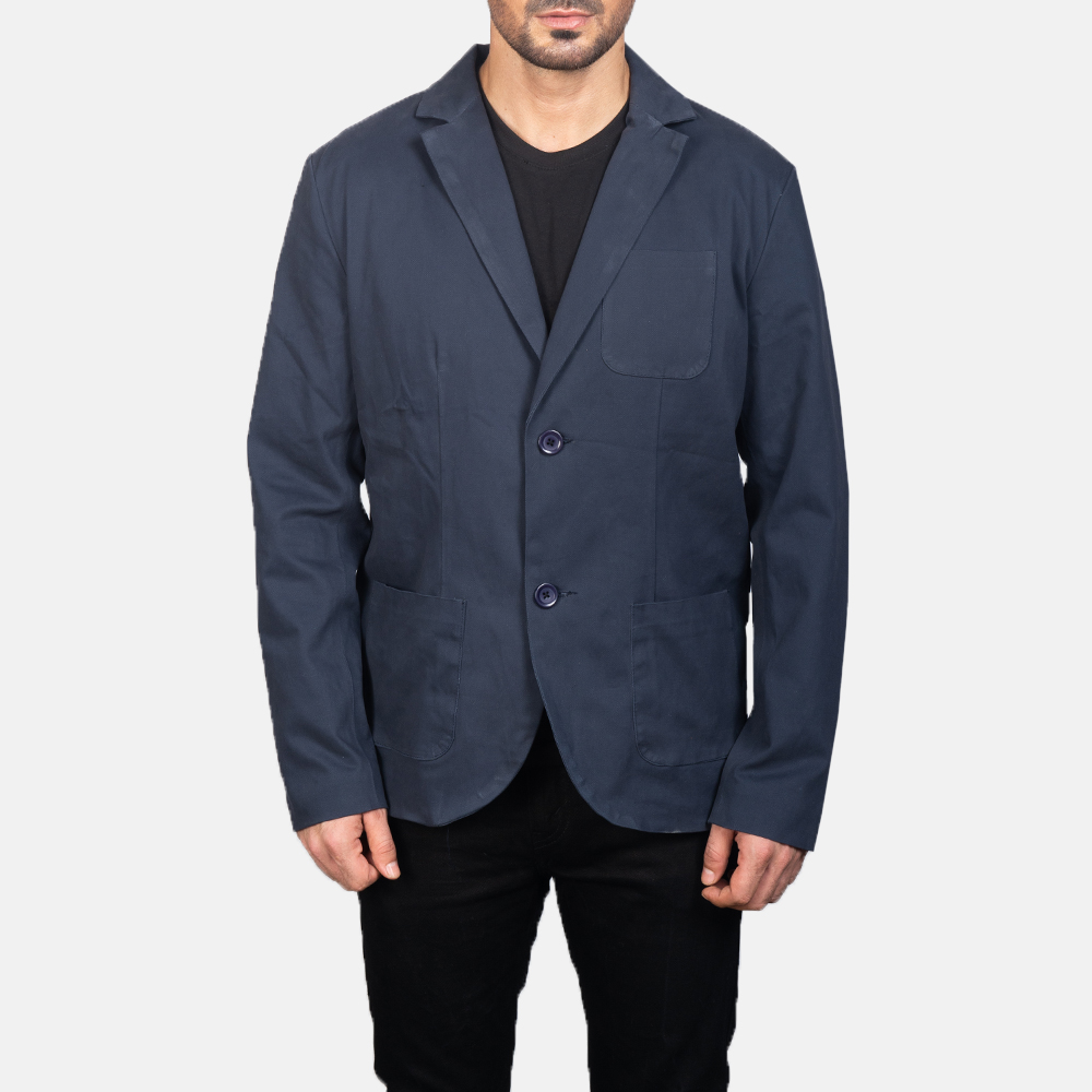 Men's Navy Blue Blazer 4