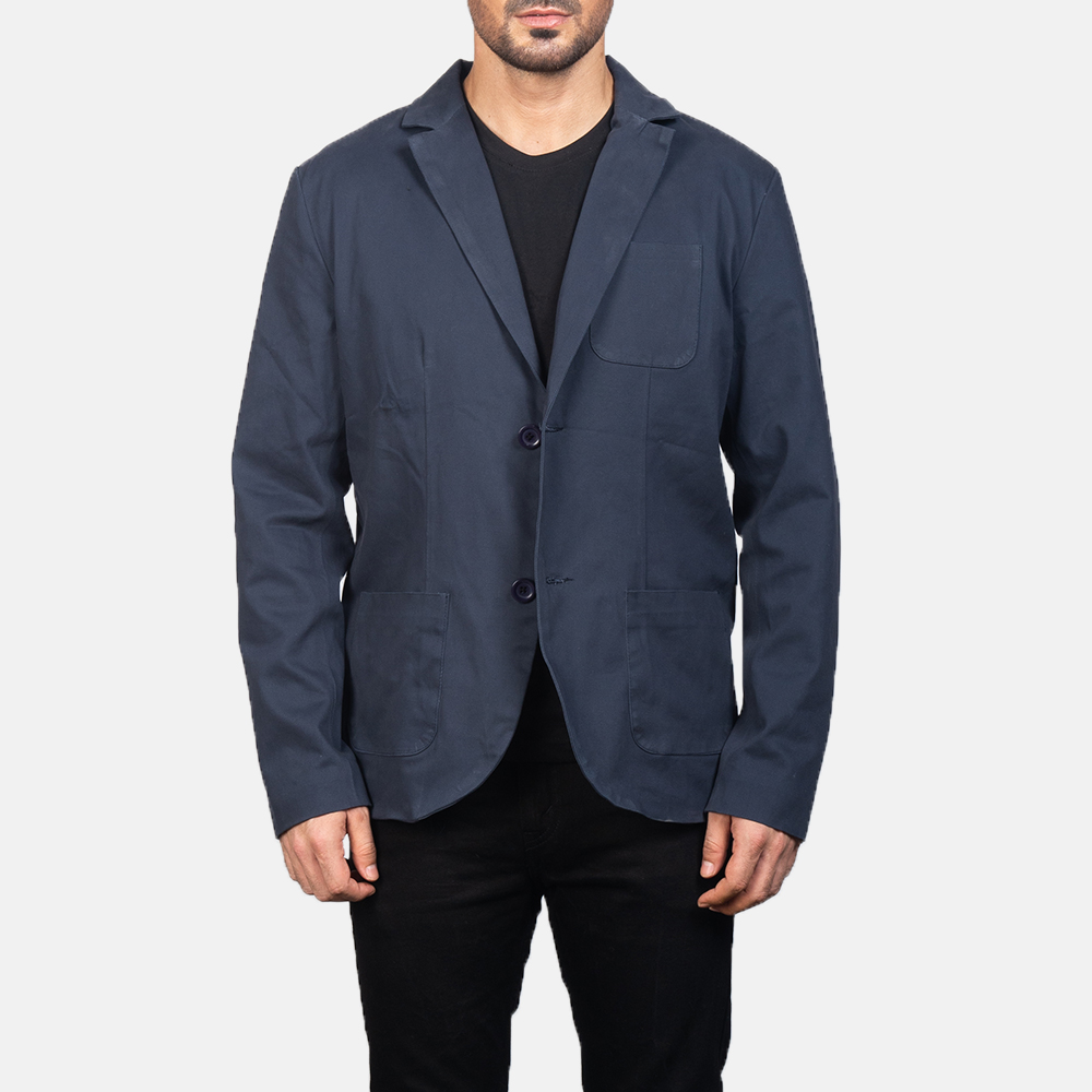 Men's Navy Blue Blazer 3