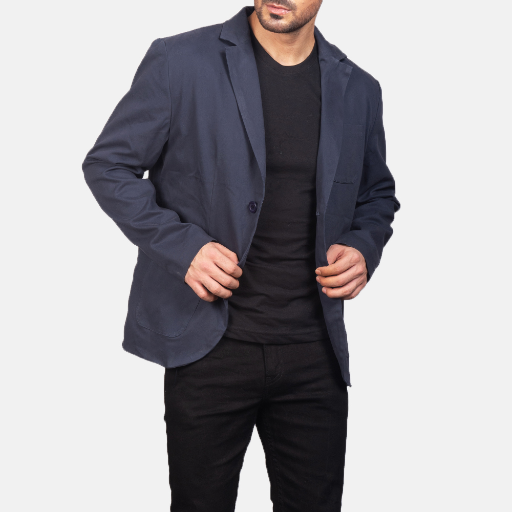 Men's Navy Blue Blazer 2