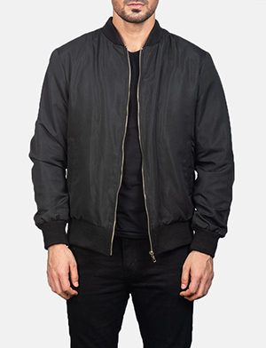 Men's Zack Black Bomber Jacket