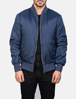 Men's Zack Blue Bomber Jacket