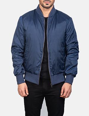 Men's Zack Blue Bomber Jacket
