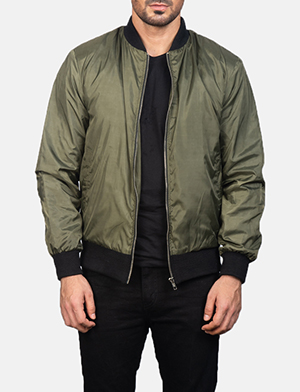Men's Zack Green Bomber Jacket