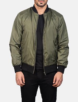 Men's Zack Green Bomber Jacket