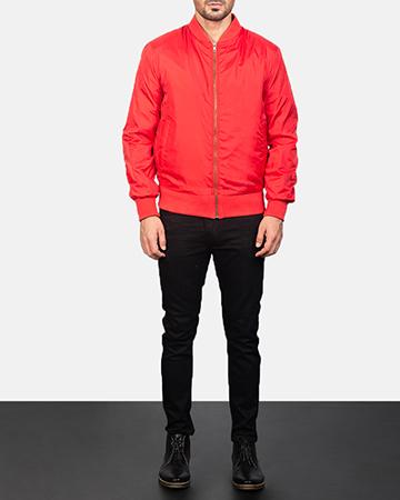 Men's Zack Red Bomber Jacket 1