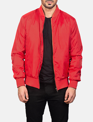 Men's Zack Red Bomber Jacket