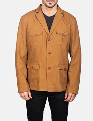 Men's Kajetan Khaki Safari Jacket