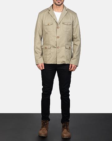 Men's Kajetan Beige Safari Jacket 1