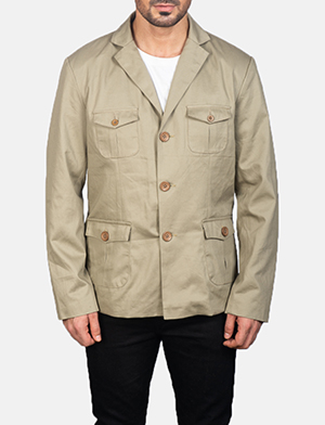 Men's Kajetan Beige Safari Jacket