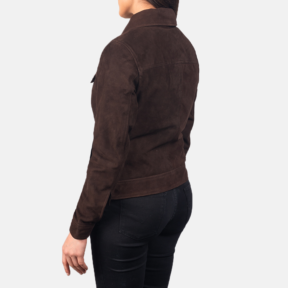 Women's Suzy Mocha Brown Suede Jacket 5
