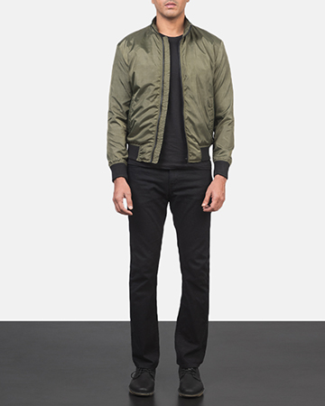 Men's Ramon Green Bomber Jacket 1