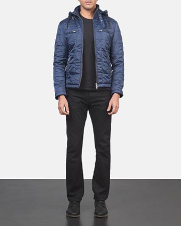 Men's Alps Quilted Blue Windbreaker Jacket 1