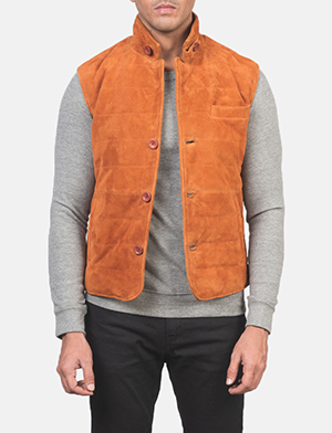 Men's Tony Brown Suede Vest
