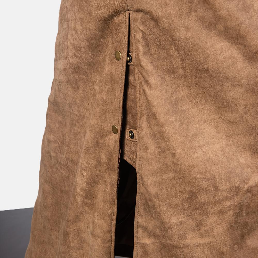 Men's Maverick Brown Leather Duster