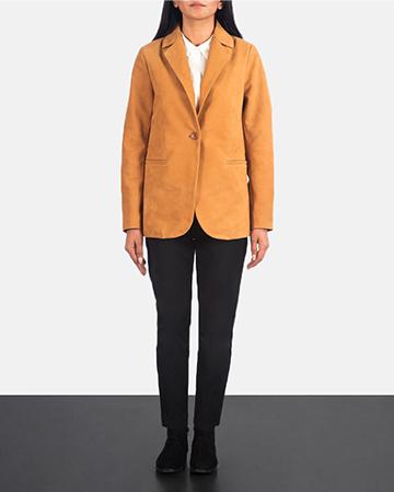 Women's Norma Brown Suede Blazer 1