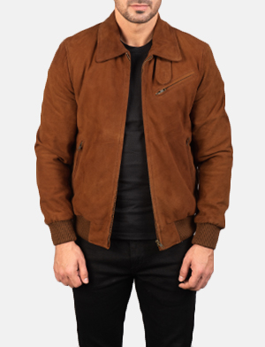 Men's Tomchi Tan Suede Leather Jacket