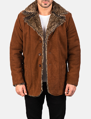 Men's Furlong Brown Leather Coat