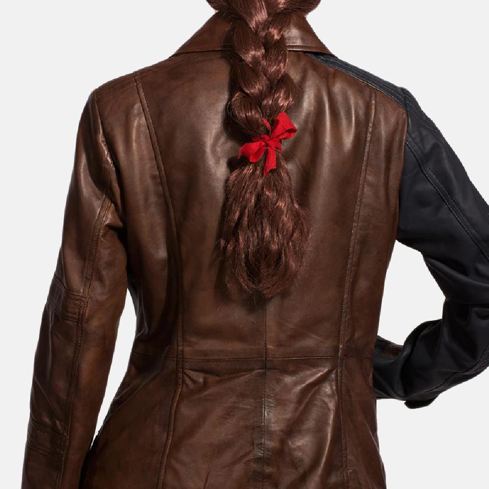 Womens Hydridella Leather Jacket 6