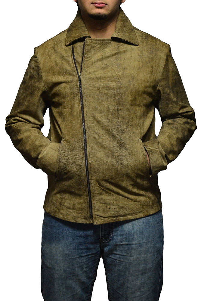 Escape From LA  Snake Plissken Distressed cLeather Jacket